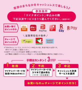 滋賀でキャッシュレス!決済サービスのポイント6,000円分もらおう!